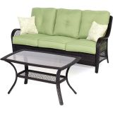 Hanover ORLEANS2PC Orleans 2-Piece Patio Set in Avocado Green