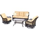 Orleans 4-Piece All-Weather Patio Set in Sahara Sand