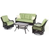 Orleans 4-Piece All-Weather Patio Set in Avocado Green