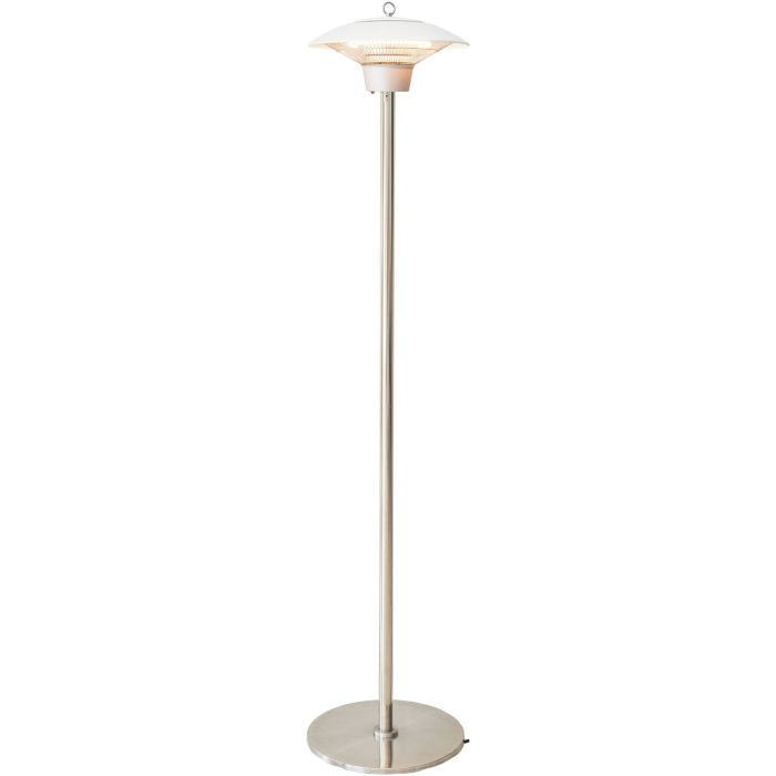 Hanover Electric Halogen Infrared Stand Heat Lamp - White