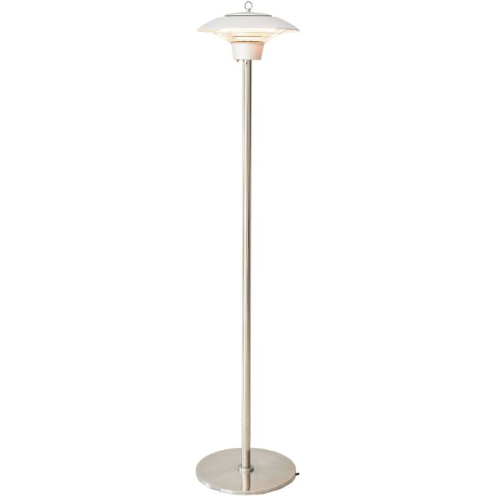 Hanover Electric Halogen Infrared Stand Heat Lamp - Silver
