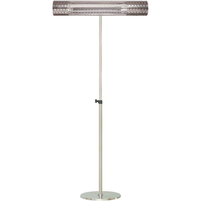 "30.7"" Electric Carbon Infrared Heat Lamp w/Adj. Pole Stand - Silver"