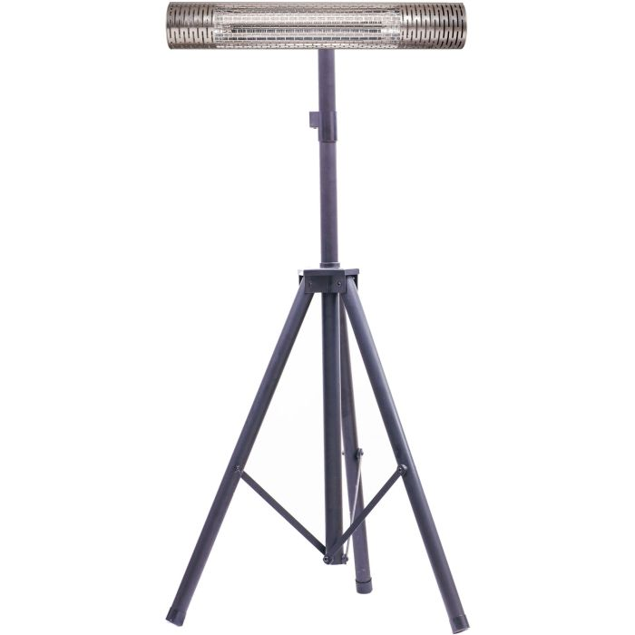 "30.7"" Electric Carbon Infrared Heat Lamp w/Tripod Stand - Silver/Black"