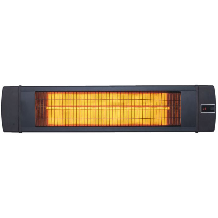 "Hanover 34.6"" Wide Electric Carbon Infrared Heat Lamp - Black"