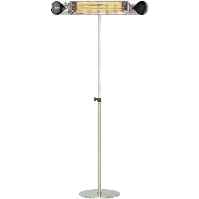 "35.4"" Electric Carbon Infrared Heat Lamp w/Adj. Pole Stand - Silver"