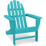 Classic All-Weather Adirondack Chair in Aruba Blue