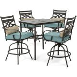 Montclair 5-Piece High-Dining Patio Set-Ocean Blue
