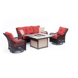 Orleans 4-Piece Woven Lounge Set in Autumn Berry