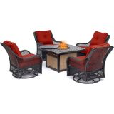 Orleans 5-Piece Fire Pit Chat Set- Autumn Berry