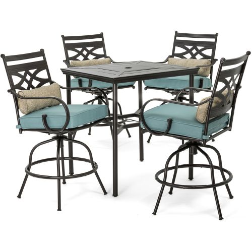 Montclair 5-Piece High-Dining Patio Set-Ocean Blue