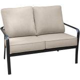 Cortino Aluminum Loveseat with Plush Sunbrella Cushions