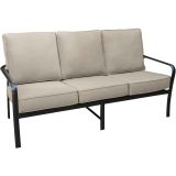 Cortino Aluminum Sofa with Plush Sunbrella Cushions