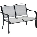 Foxhill All-Weather Aluminum Loveseat with Sunbrella Sling Fabric