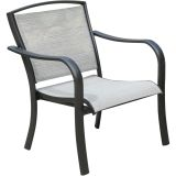 Foxhill All-Weather Aluminum Lounge Chair with Sunbrella Sling Fabric