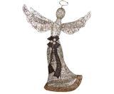 Glittering Champagne Angel Sculpture