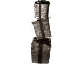 Glittering Champagne Gift Box Tower Sculpture