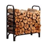 Arett A77-15205 Deluxe Outdoor Log Racks With Covers