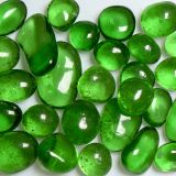 Green Apple Size 3 Jelly Bean Fireplace Firepit Glass - 25 LB