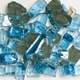 Tempered Reflective Blue Size 2 Terrazzo Glass - 22 Lbs. Bag