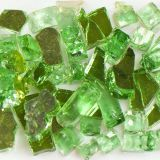 Tempered Reflective Dark Green Size 2 Terrazzo Glass - 22 Lbs. Bag