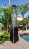 Tall Commercial Natural Gas Triangle Glass Tube Heater-Hammered Bronze