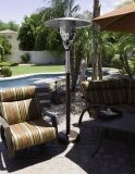 """85"""" Natural Gas Outdoor Patio Heater - Hammered Bronze"""