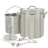 Bayou 44-Qt Stainless Grand Gobbler with Basket