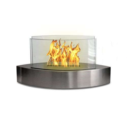 Anywhere Fireplace 90217 Lexington Tabletop Fireplace- Stainless Steel