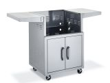 "Broilmaster BSACT42 42"" SS Cart w/2 Doors and 2 Fold-Down Side Shelves"
