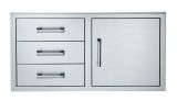 Broilmaster BSAW4222ST Single Door with Triple Drawer