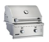 """26"""" SS Built-In Gas Grill w/2 Burner, Work Light and LED Controls - NG"""