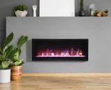 "42"" Basic Clean-Face Symmetry Electric Fireplace w/Black Surround"
