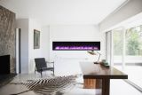 "88"" Basic Clean-Face Symmetry Electric Fireplace w/Black Surround"