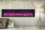 "88"" Extra Tall Clean Face Symmetry Electric Fireplace w/Birch Logs"