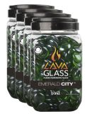 Bond Mfg 67985 Round LavaGlass Emerald City 4-Pack