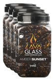 Bond Mfg 67998 Mini LavaGlass Amber Sunset 4-Pack