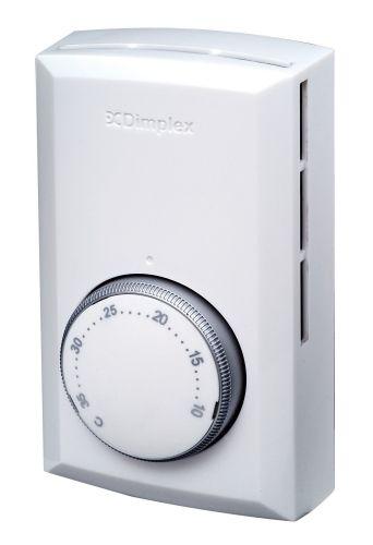 Dimplex Double Pole Line Voltage Electric Heater Thermostat - White