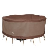Duck Covers Ultimate Round Table and Chair Set Cover 72 in W