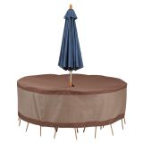 Ultimate Round Table and Chair Set Cover with Umbrella Hole
