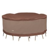 Duck Covers Ultimate Round Table and Chair Set Cover 96 in W