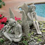 Design Toscano PD91546 The Secret Garden Fairy Statues - Set of 2