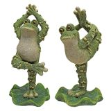 Design Toscano QM920894 Boogie Down, Dancing Frog Statues - Set of Two