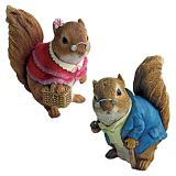 Design Toscano QM94685 Grandmother and Grandfather Squirrel Statues