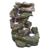Design Toscano QN164053 Mesquite Falls Illuminated Garden Fountain