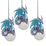 Frost, the Gothic Dragon Holiday Ornaments - Set of Three