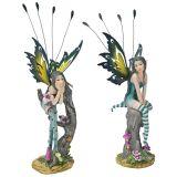 Design Toscano QS9327381 Lochloy House Fairy Twins Statues