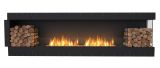 Flex Right Corner Bioethanol Firebox-Black Finish-Decorative Two Side
