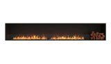 Flex Single Sided Bioethanol Firebox-Black Finish-Right Side
