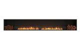 Flex Single Sided Bioethanol Firebox-Black Finish-Decorative Two Side