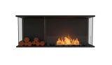 Flex Bay Bioethanol Firebox-50BY-Black Finish-Decorative Left Side
